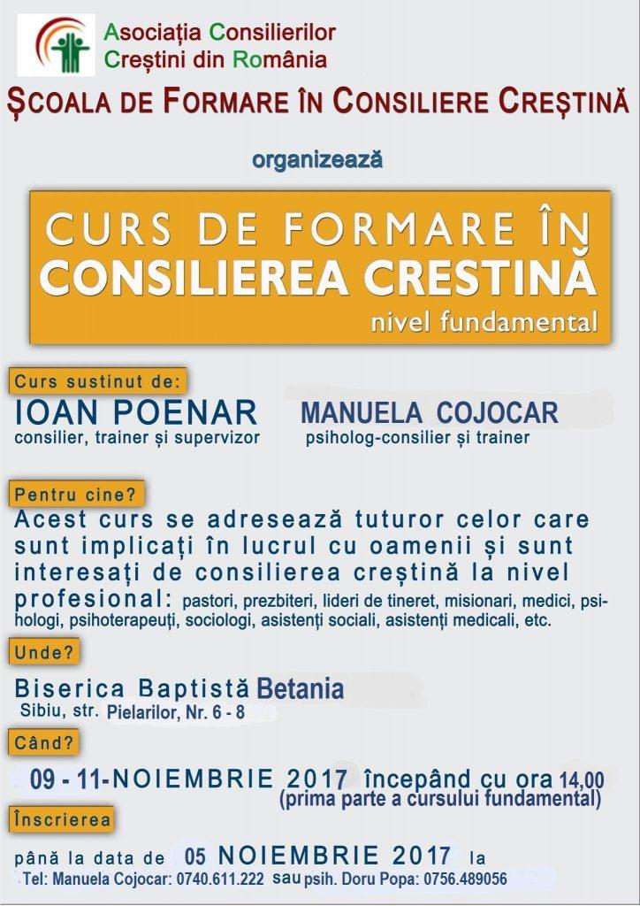 Curs Consiliere Sibiu cu Manuela